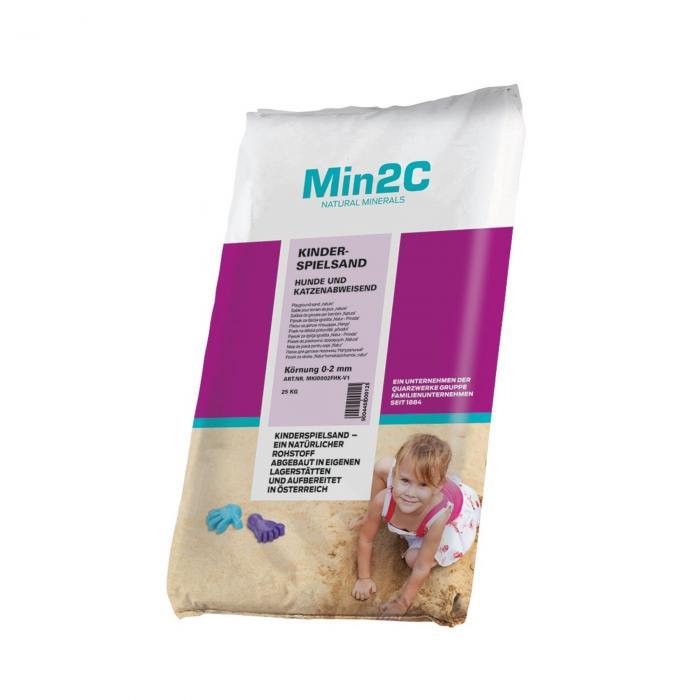 Min2C písek na pískoviště odpuzující psy a kočky 25 kg
