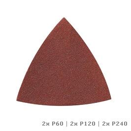 DREMEL ® Multi-Max brusný papír na dřevo (P60, P120 a P240) (MM70W)