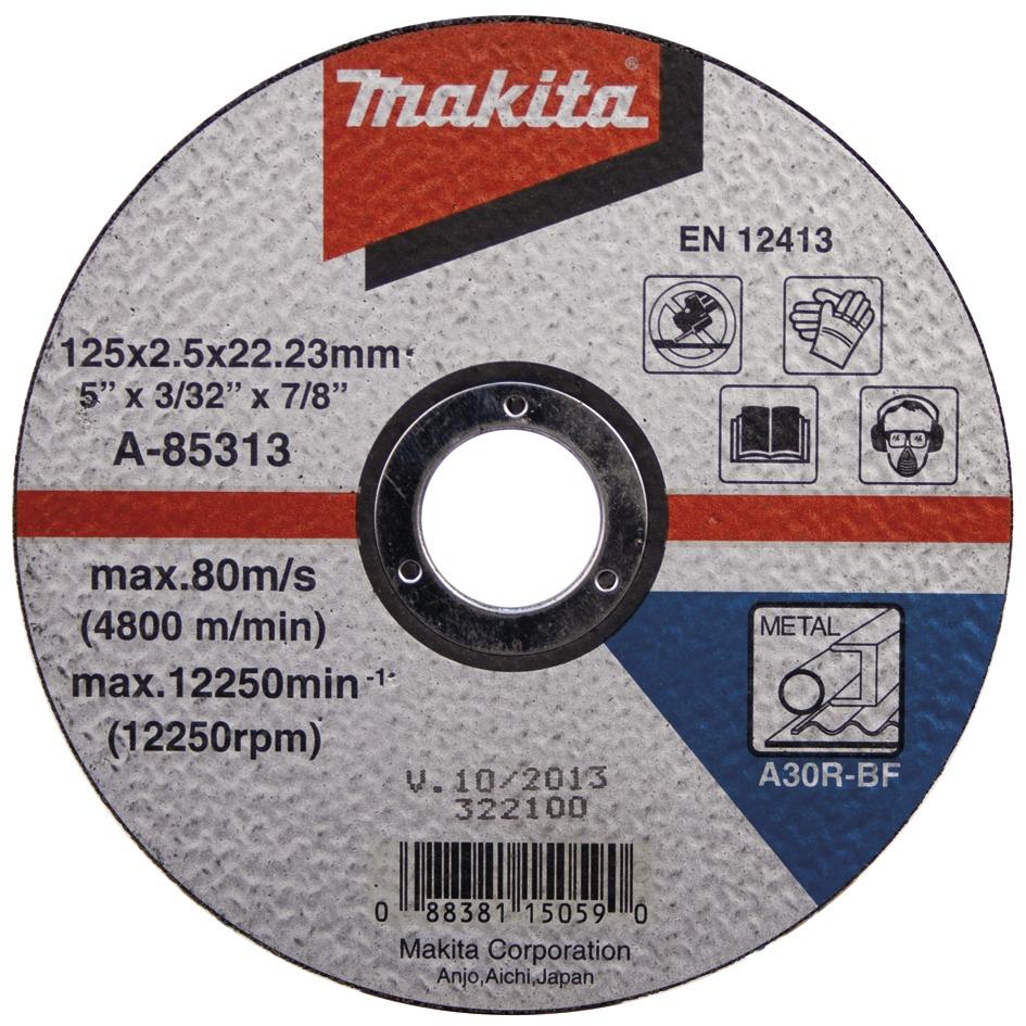 MAKITA Řezný kotouč na ocel 125x1.6x22