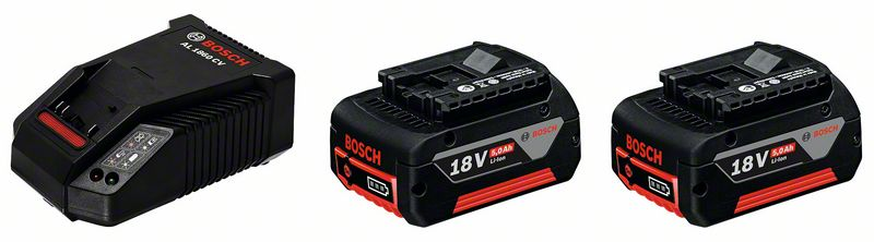 Bosch Souprava akumulátorového nářadí Základní souprava 2x GBA 18 V 5,0 Ah M-C + AL 1860 CV