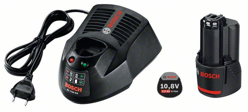 Bosch Souprava akumulátorového nářadí Základní souprava GBA 10,8 V 2,0 Ah O-B + AL 1130 CV