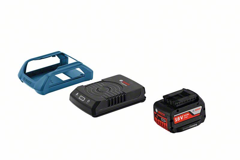 Bosch Souprava akumulátorového nářadí Startovací sada GBA 18 V 4,0 Ah MW-C + GAL 1830 W s bezdrátovým nabíjením