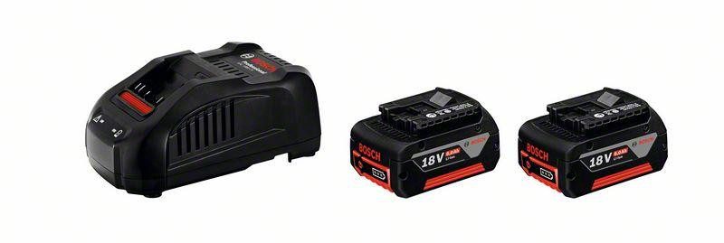 Bosch Souprava akumulátorového nářadí Startovací sada 2× GBA 18 V 6,0 Ah + GAL 1880 CV
