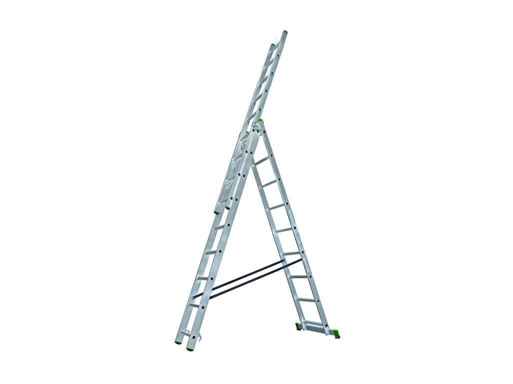 PROTECO 10.66-3-07-KR žebřík trojdílný univerzální 3x7 195/310/420 cm