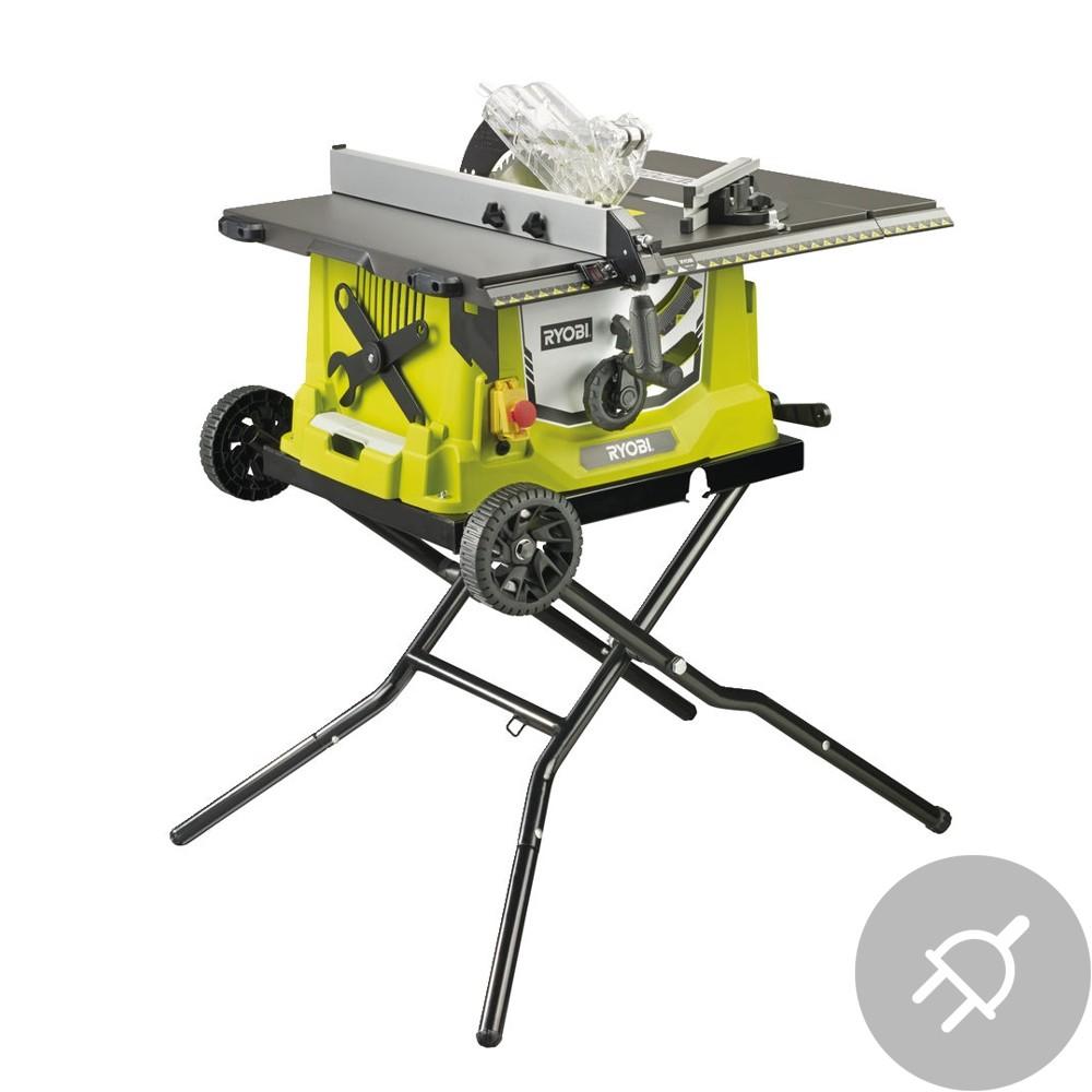 Ryobi RTS1800EF-G Elektrická stolní pila stojan s kolečky,1800W, 254mm