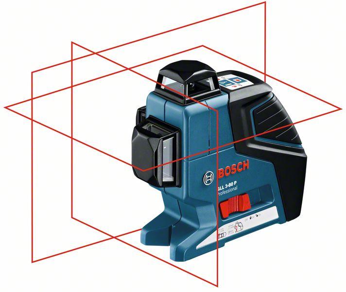 Bosch Čárový laser GLL 3-80 P + BM1 + LR2