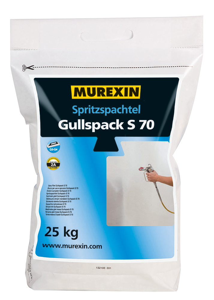 Murexin Stěrka stříkaná Gullspack S 70 pytel 25 kg