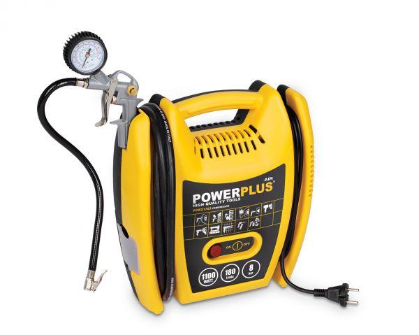 POWERPLUS X POWX1705 - Kompresor 1100W plus 5 ks přísl. bezolejový