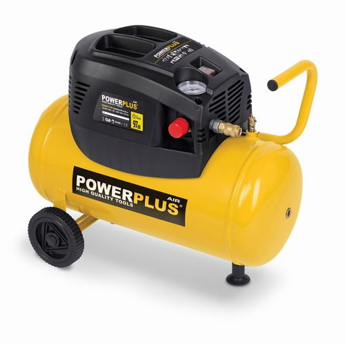 POWERPLUS X POWX1730 - Kompresor 1100W 24L plus 6 ks přísl bezolejový