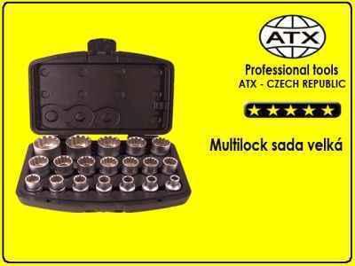 ATX Multi lock (hvězdy) sada nástrčných klíčů velká -