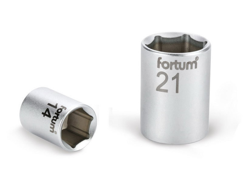 """FORTUM Hlavice nástrčná, 1/2"""", 13mm, L 38mm, 61CrV5,"""