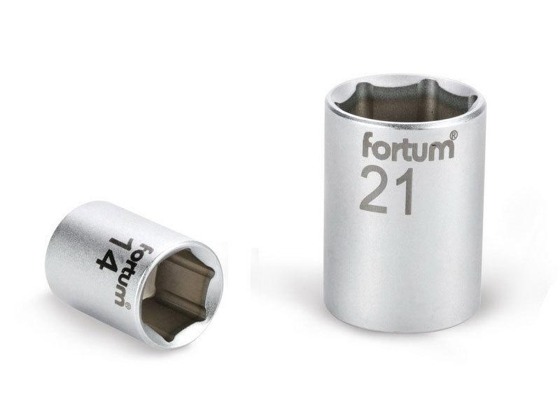 """FORTUM Hlavice nástrčná, 1/2"""", 21mm, L 38mm, 61CrV5,"""