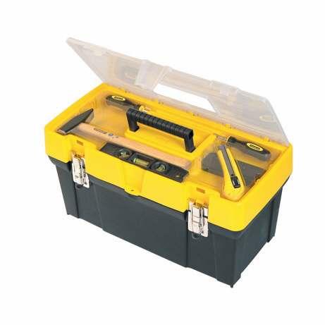 "19"" Box s průhledným víkem + organizer 19061 Stanley 1-93-285"