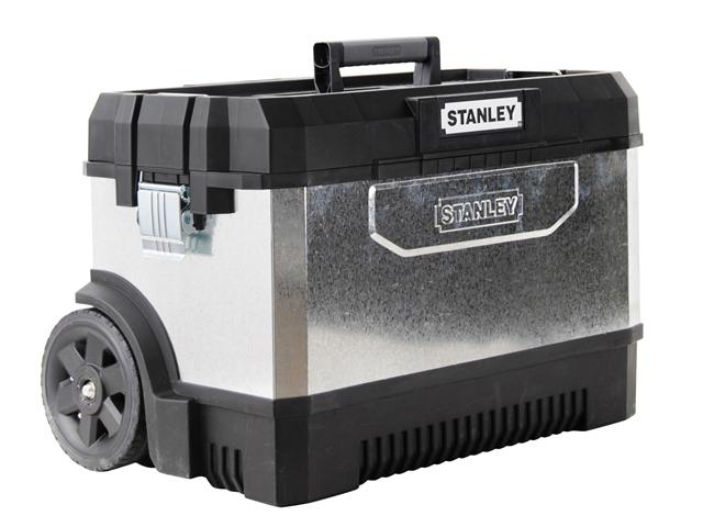 Kovoplastová bedna na nářadí Černá / Galvanizovaná Stanley 1-95-828