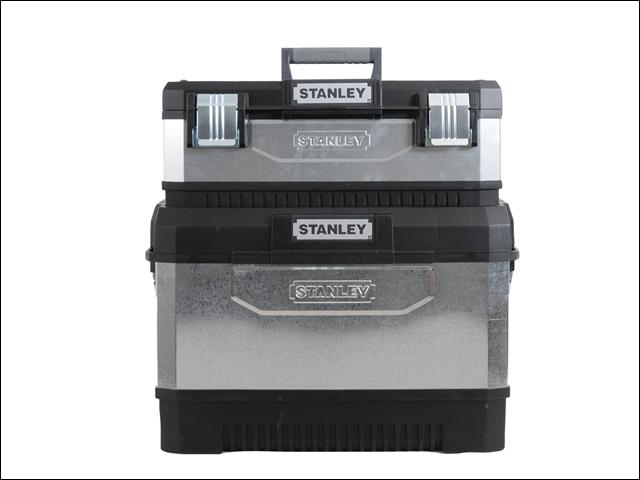Kovoplastový pojízdný box + box na nářadí galvanizovaný Stanley 1-95-832