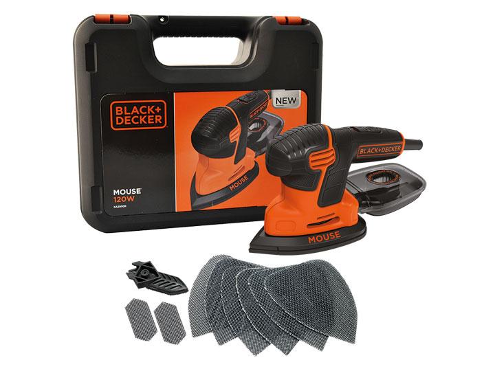 Black & Decker KA2500K Nová generace brusky Mouse® 120 W s kufrem a 9 kusy příslušenství
