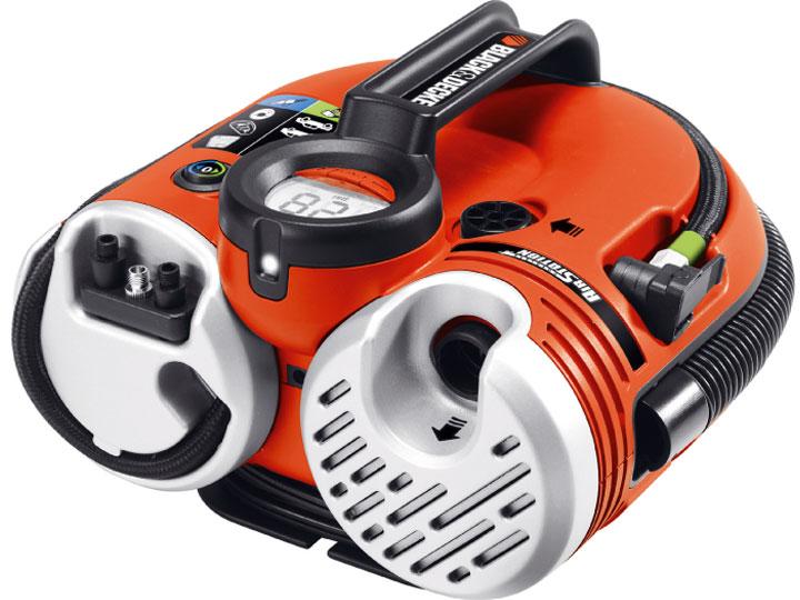 Black & Decker ASI500 Kompresor 12 V napájený baterií nebo kabelem s výkonem 160 PSI
