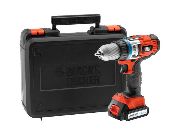 Black & Decker EGBHP146K Vysoce výkonná vrtačka 14,4 V Li-Ion s 2 převodovými stupni