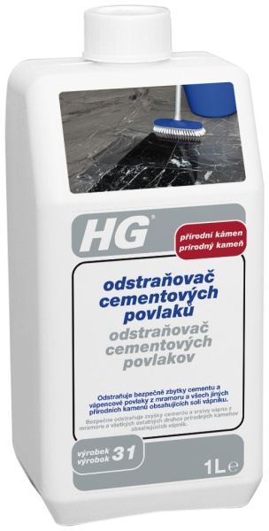 HG odstraňovač cementových povlaků z přírodního kamene