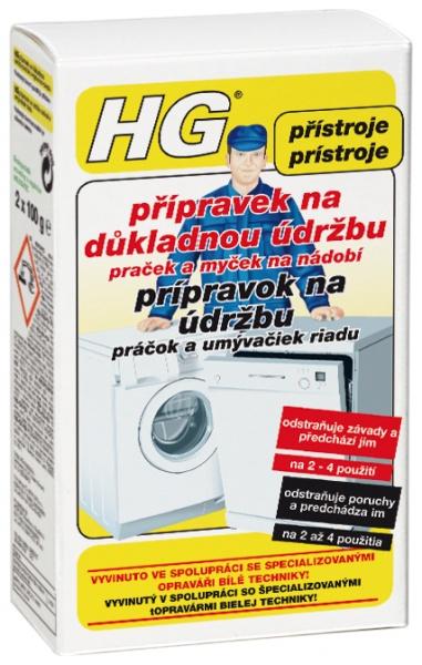 HG přípravek na důkladnou údržbu praček a myček na nádobí