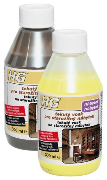 HG tekutý vosk pro starožitný nábytek žlutý & hnědý