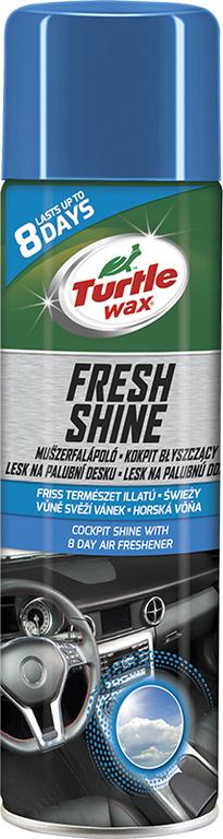 Turtle Wax ® Lesk na palubní desku s osvěžovačem vzduchu - Svěží vánek 500ml