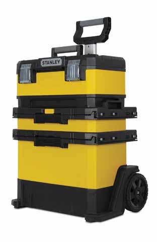 Kovo plastový pojízdný montážní box (žlutý) Stanley 1-95-621