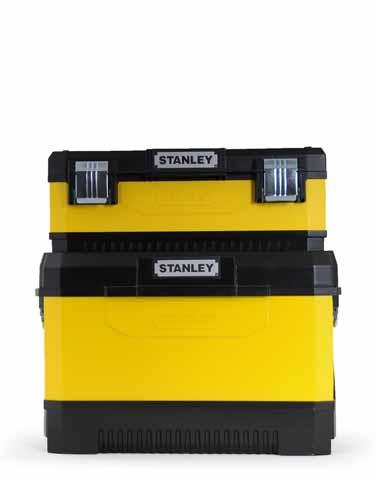 Kovoplastový pojízdný box + Box na nářadí Stanley 1-95-831