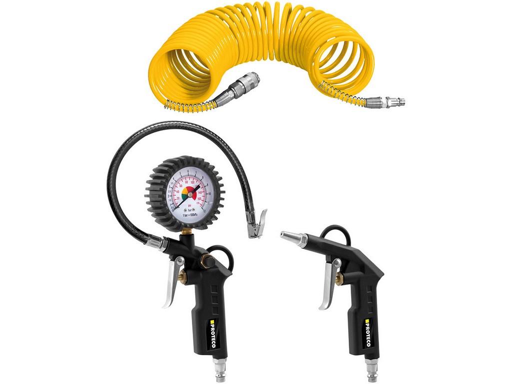 PROTECO 10.25-003 sada pneumatického nářadí 3-dílná