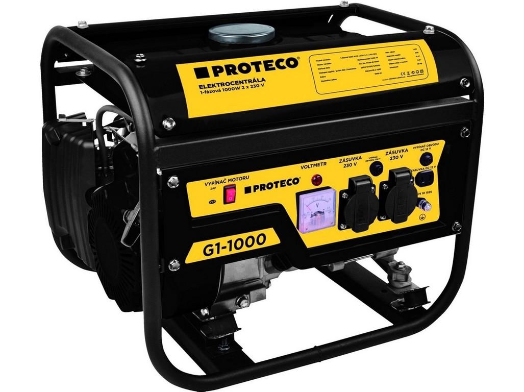 PROTECO 51.08-G1-1000 elektrocentrála 1-fázová 1000W (AC 2x230V, DC 1x12V)