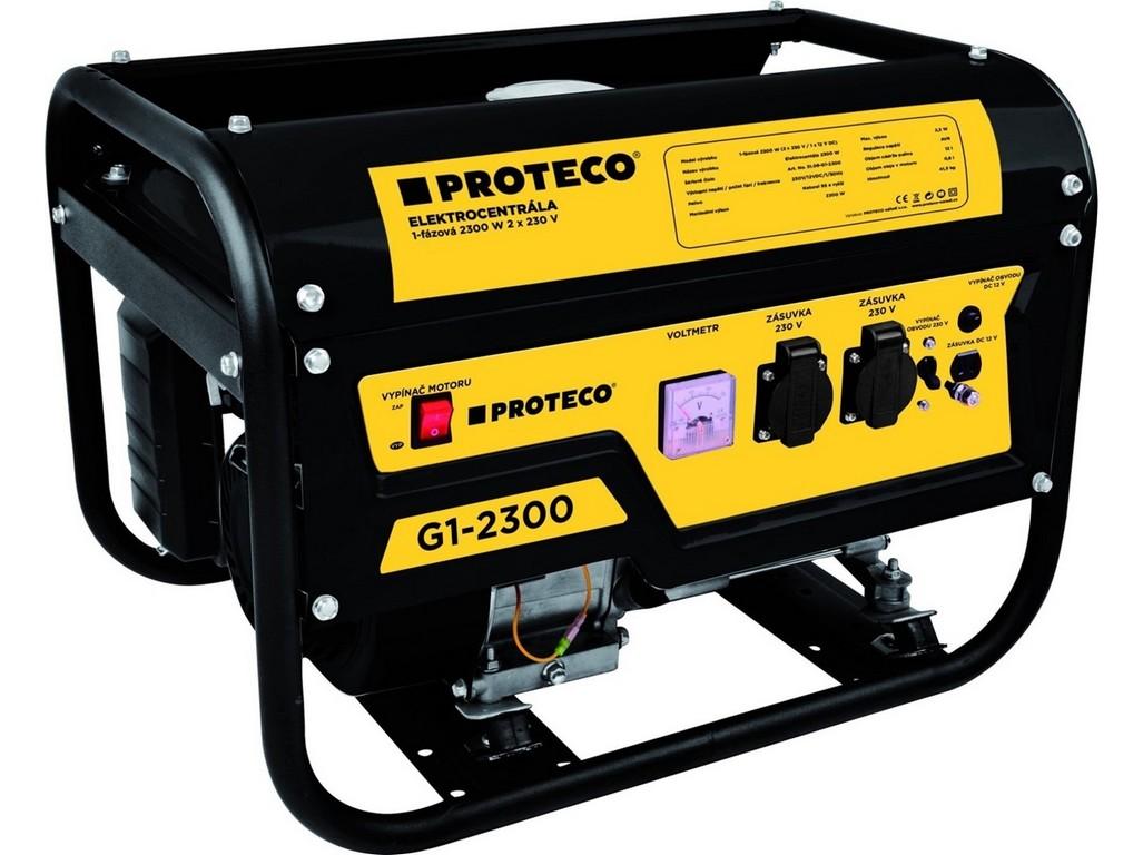 PROTECO 51.08-G1-2300 elektrocentrála 1-fázová 2300W (AC 2x230V, DC 1x12V)