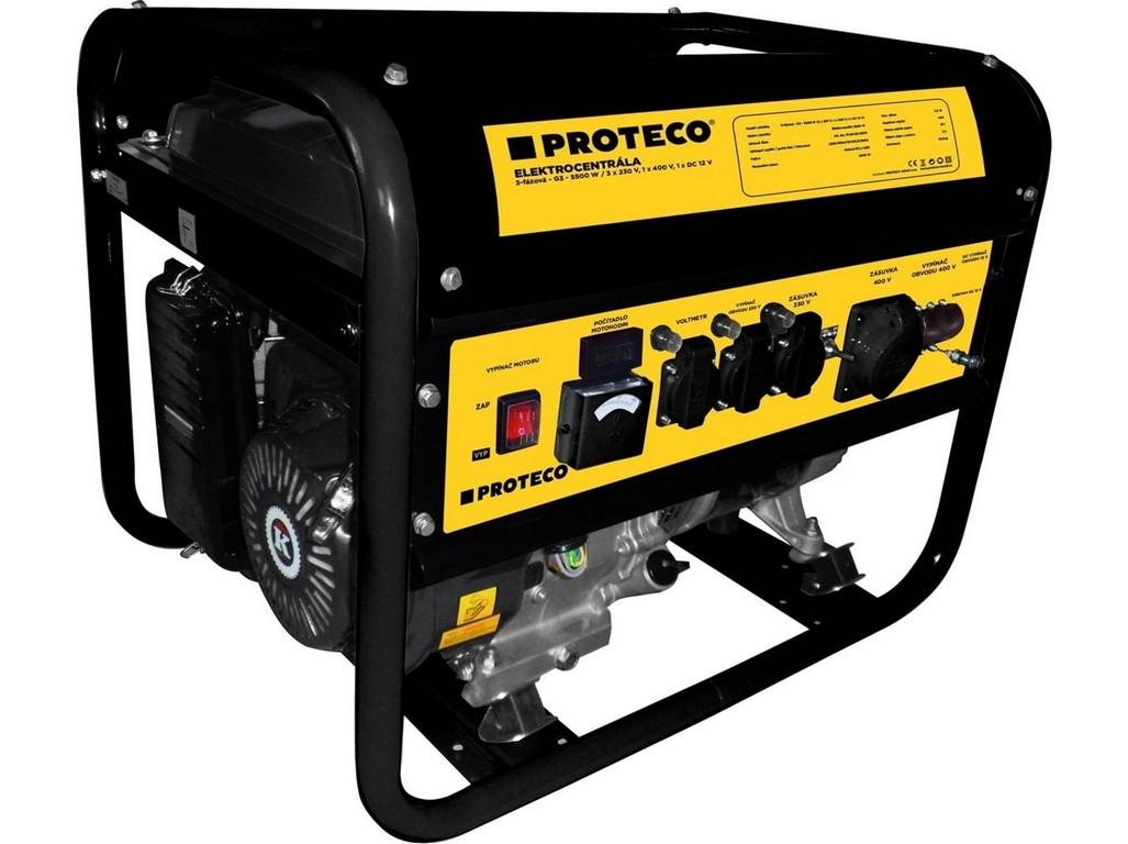 PROTECO 51.08-G3-5500 elektrocentrála 3-fázová 5500/3300W (AC 3x230V, AC 1x400V, DC 1x12V)