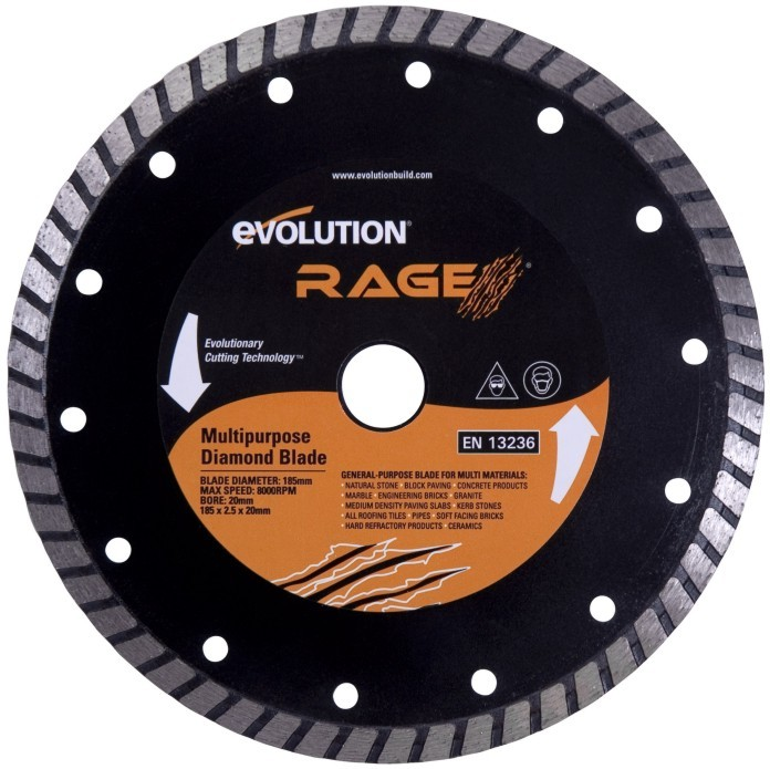 EVOLUTION kotouč 210mm RAGE 3-S diamantový