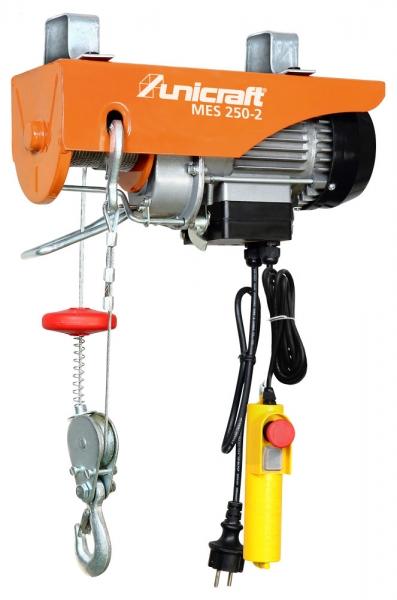 Unicraft® 6198225 elektrický lanový kladkostroj MES 250-2