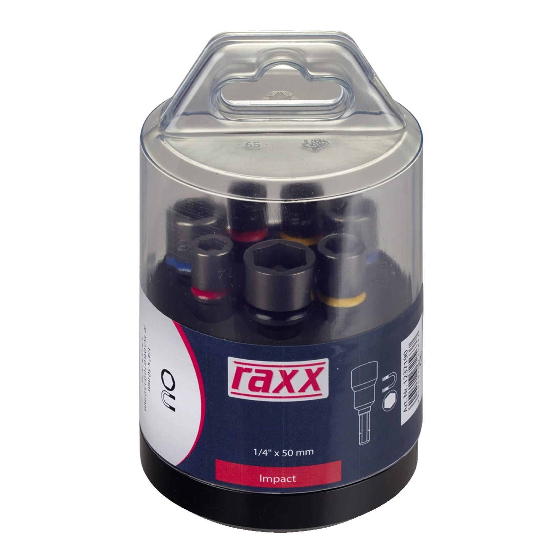"RAXX 1237190 sada nástrčných hlavic 7díl. IMPACT 1/4"" E 6,30 [ 9005426725637 ]"