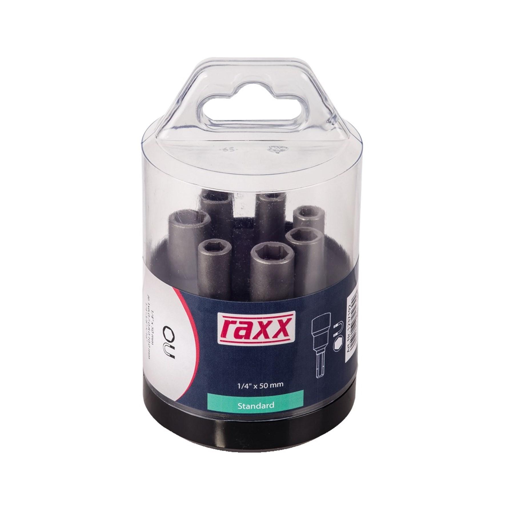 """RAXX 1237192 sada nástrčných hlavic 7díl. 1/4"""" E 6,30 [ 73601 ]"""