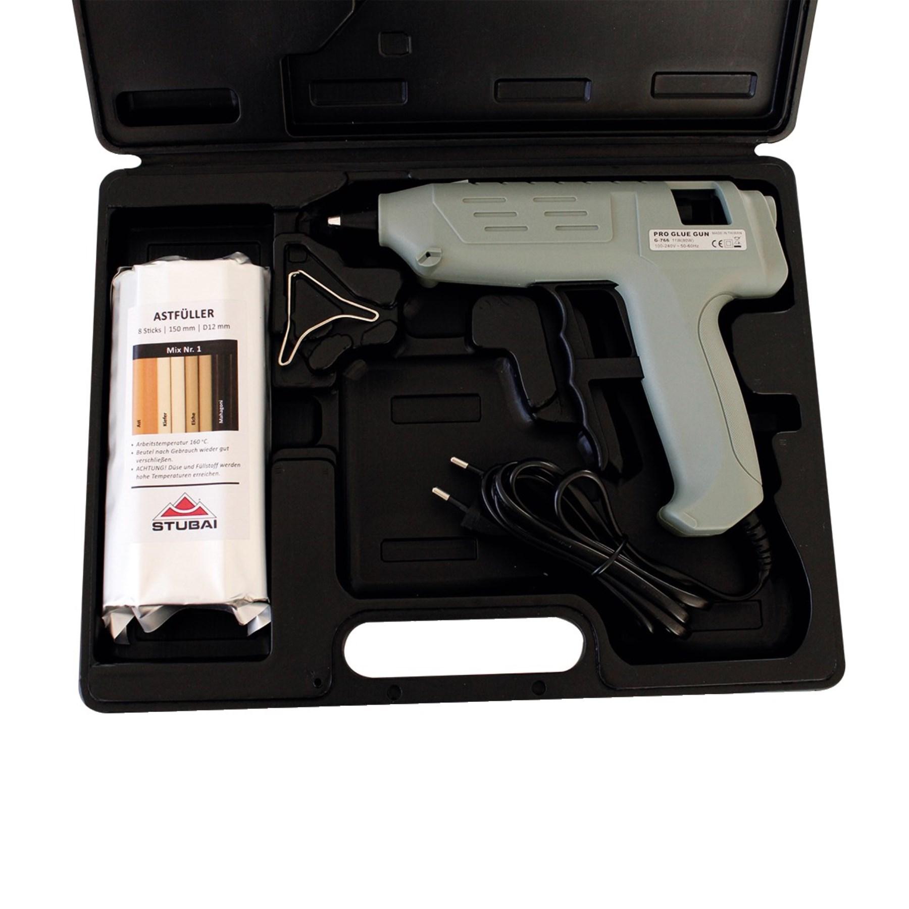 Stubai 252100 set tavná pistole pro dřevo 9 dílna v kufru