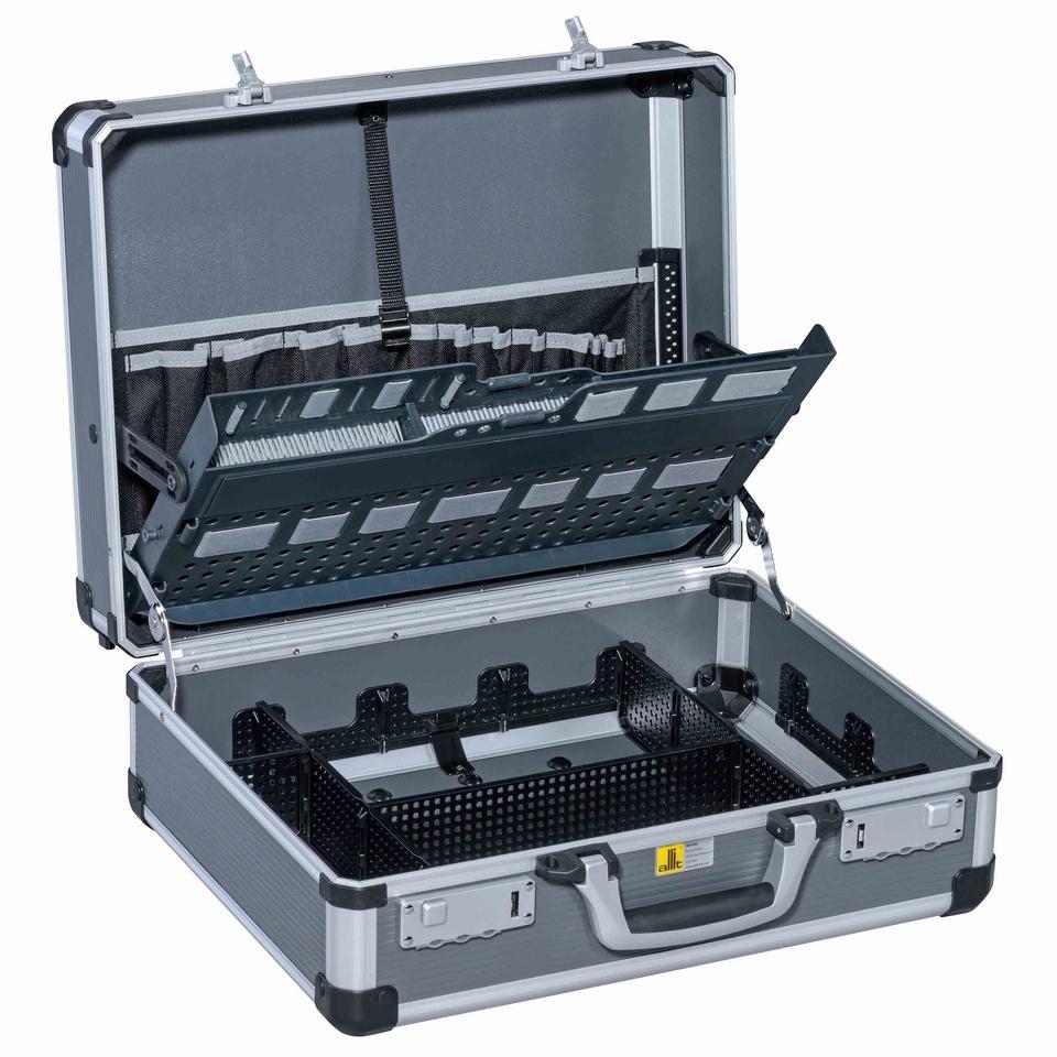Allit 427210 Hliníkový montážní kufřík AluPlus Service >C<44-1, antracit