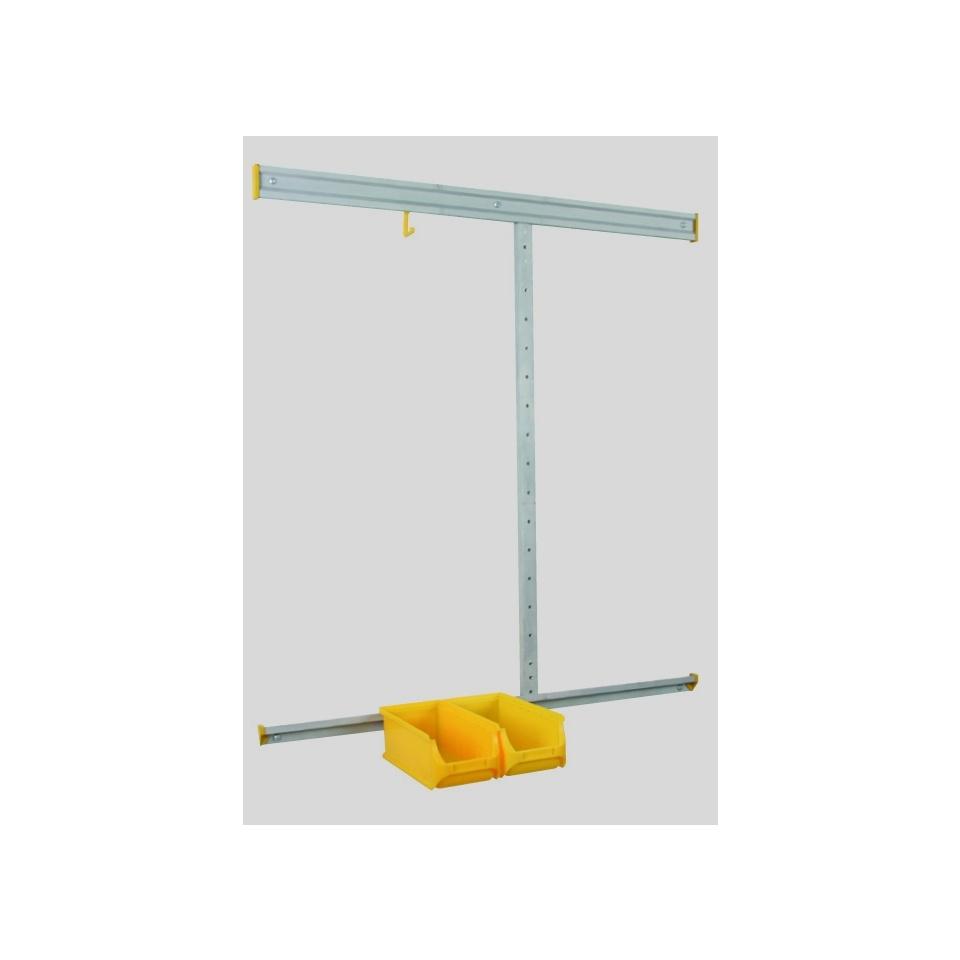 Allit 455210 Set nástěnného systému z hliníku Sada StorePlus> Startér <24