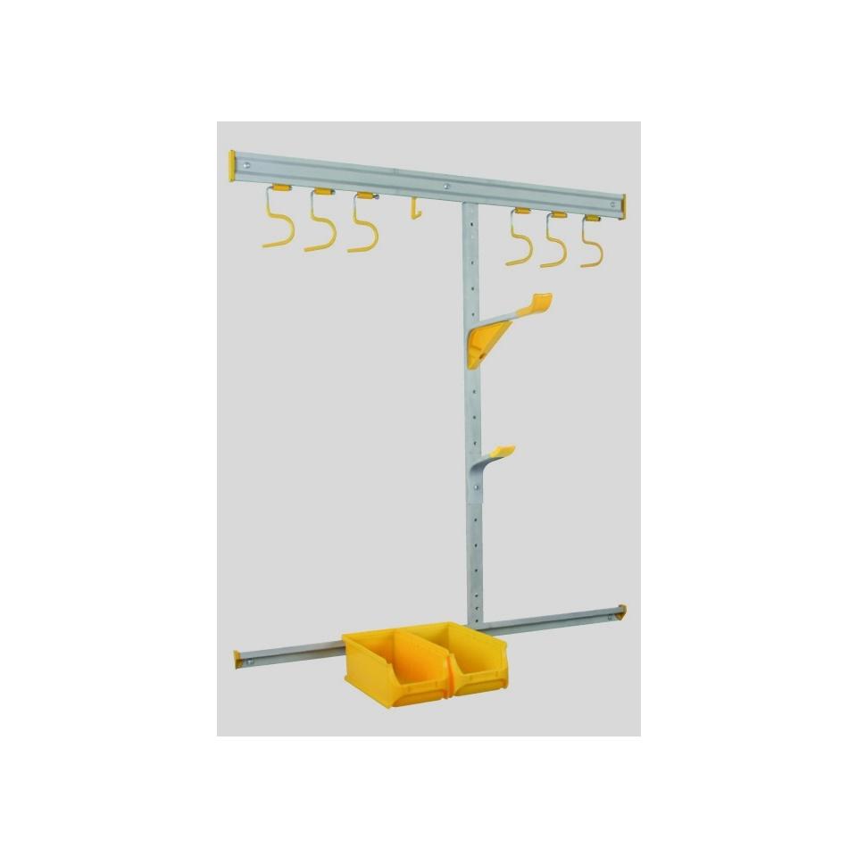 Allit 455219 Set nástěnného systému z hliníku na zahradní potřeby Sada StorePlus> Zahrada <35