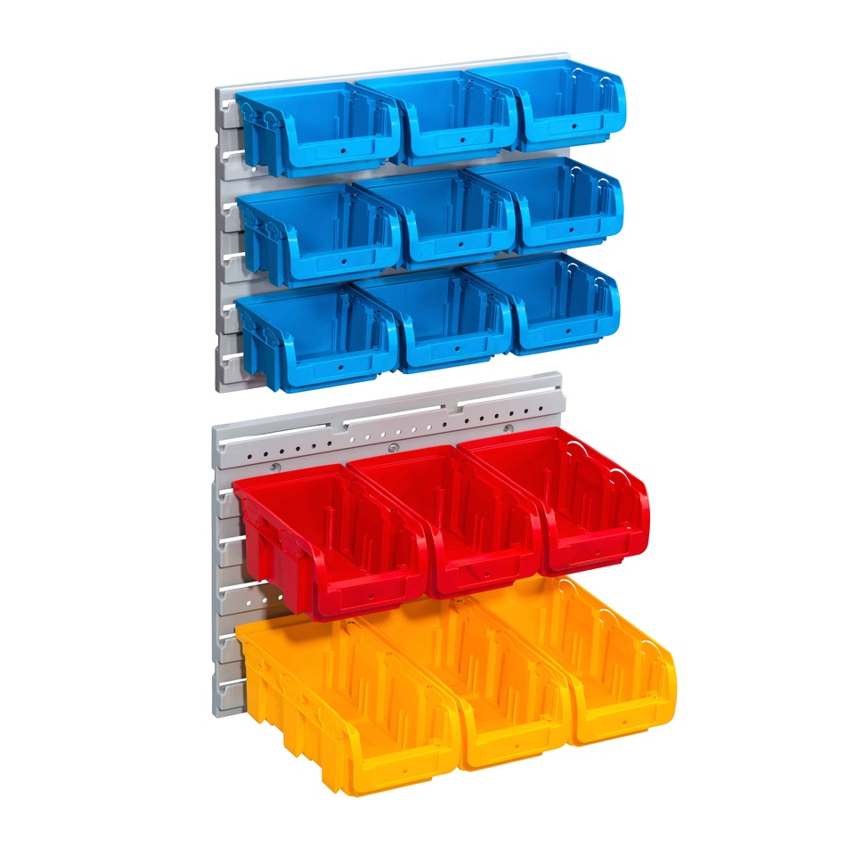 Allit 457125 Sada 15 zásobníků s 2 držáky na zeď Sada ProfiPlus> C <1 + 2 + 2L / 17