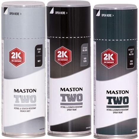 MASTON Spraypaint TWO 2K Dvousložkový barevný vysoce odolný barevný univerzální sprej podle RAL 400ml