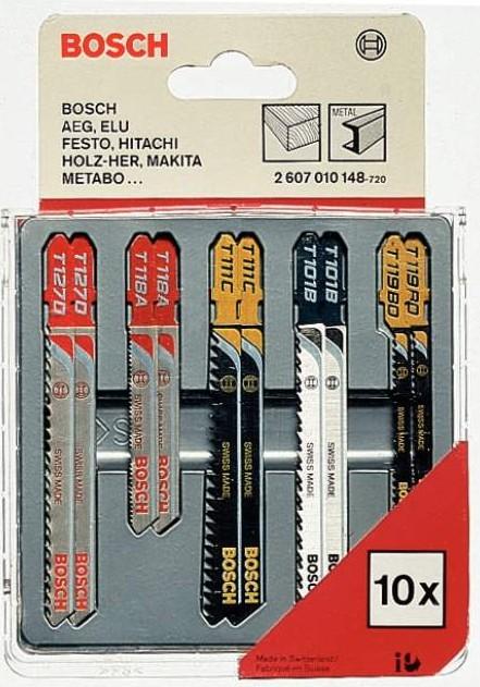 Bosch 2607010148 10dílná sada pilových listů na dřevo, kov