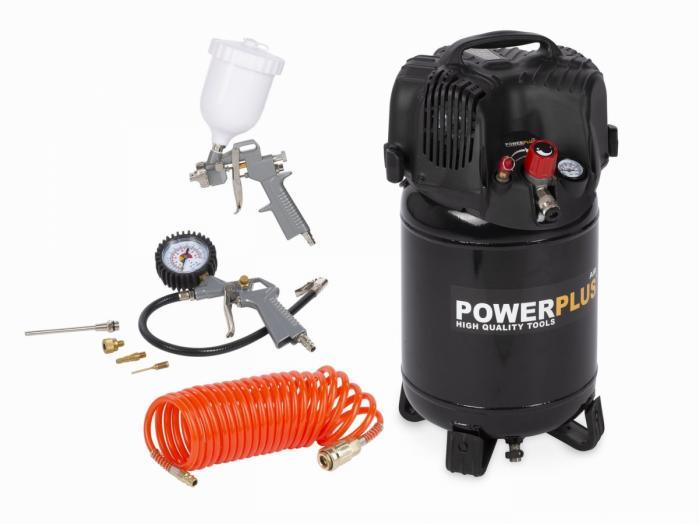 POWERPLUS AIR POWERPLUS POWX1731 kompresor 1100W 24L + 7 ks přísl. bezolejový