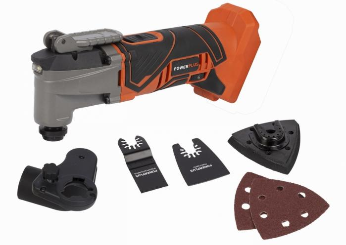 POWERPLUS aku multitool oscilační bruska 20V