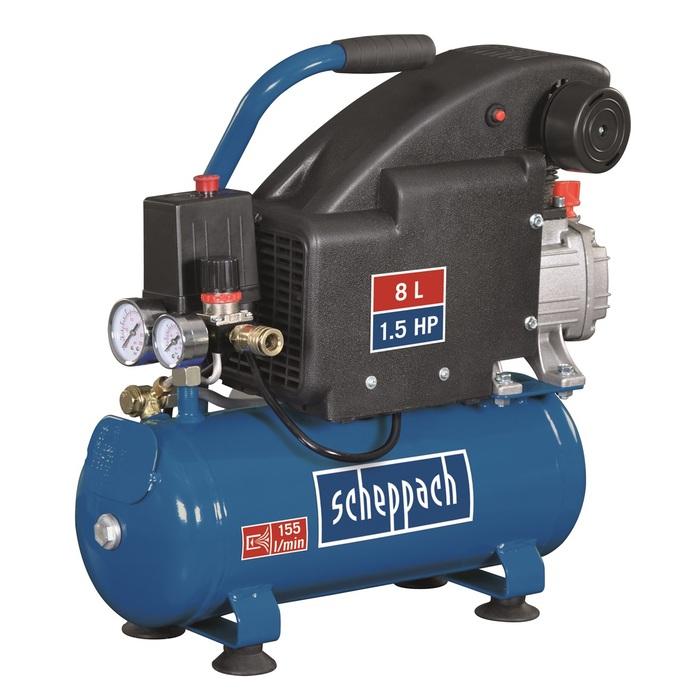 Scheppach HC 08 - olejový kompresor 8 l
