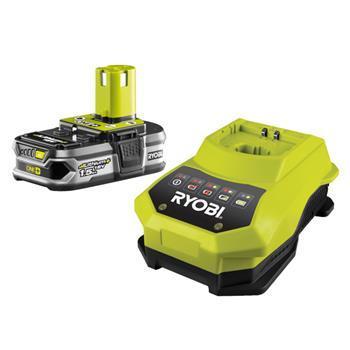 RYOBI - nářadí RBC18 L15 - sada 18 V lithium iontová baterie 1,5 Ah s nabíječkou