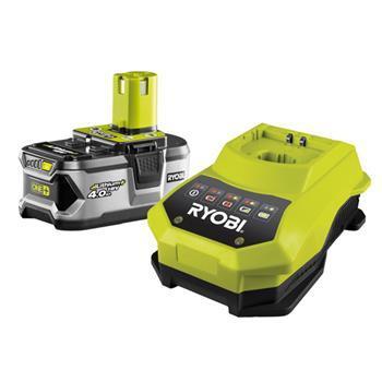 RYOBI - nářadí RBC18 L40 - sada 18 V lithium iontová baterie 4,0 Ah s nabíječkou