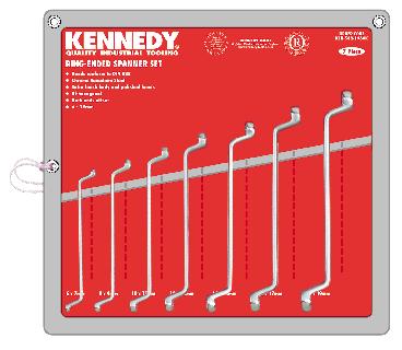KENNEDY Sada klíčů očkoplochých Cr-V DIN838 11ks