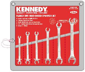 KENNEDY Sada klíčů na převlečné matice Cr-V 6ks